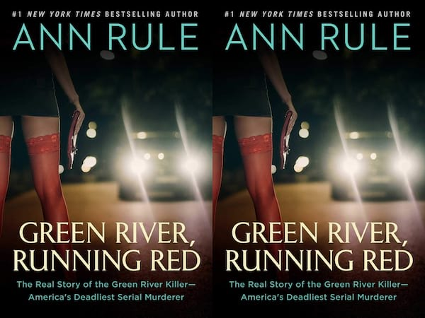 books about serial killers, cover of green river, running red by ann rule, books