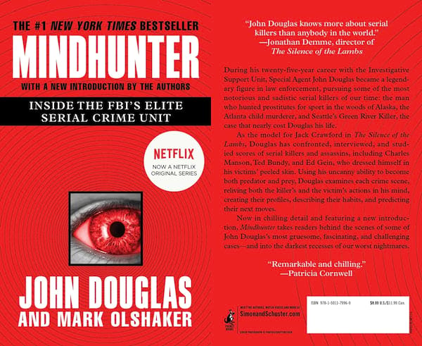 books about serial killers, cover of mindhunter by john e. douglas and mark olshaker, books