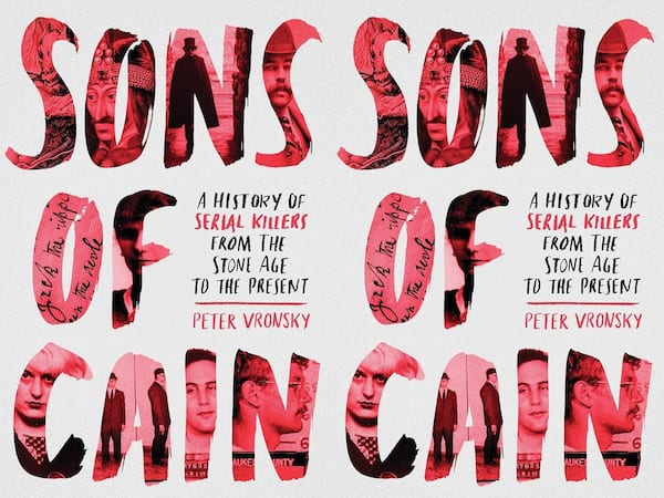 books about serial killers, cover of Sons of Cain by Peter Vronsky, books