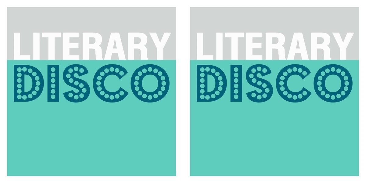 podcasts about books, logo for literary disco podcast, books