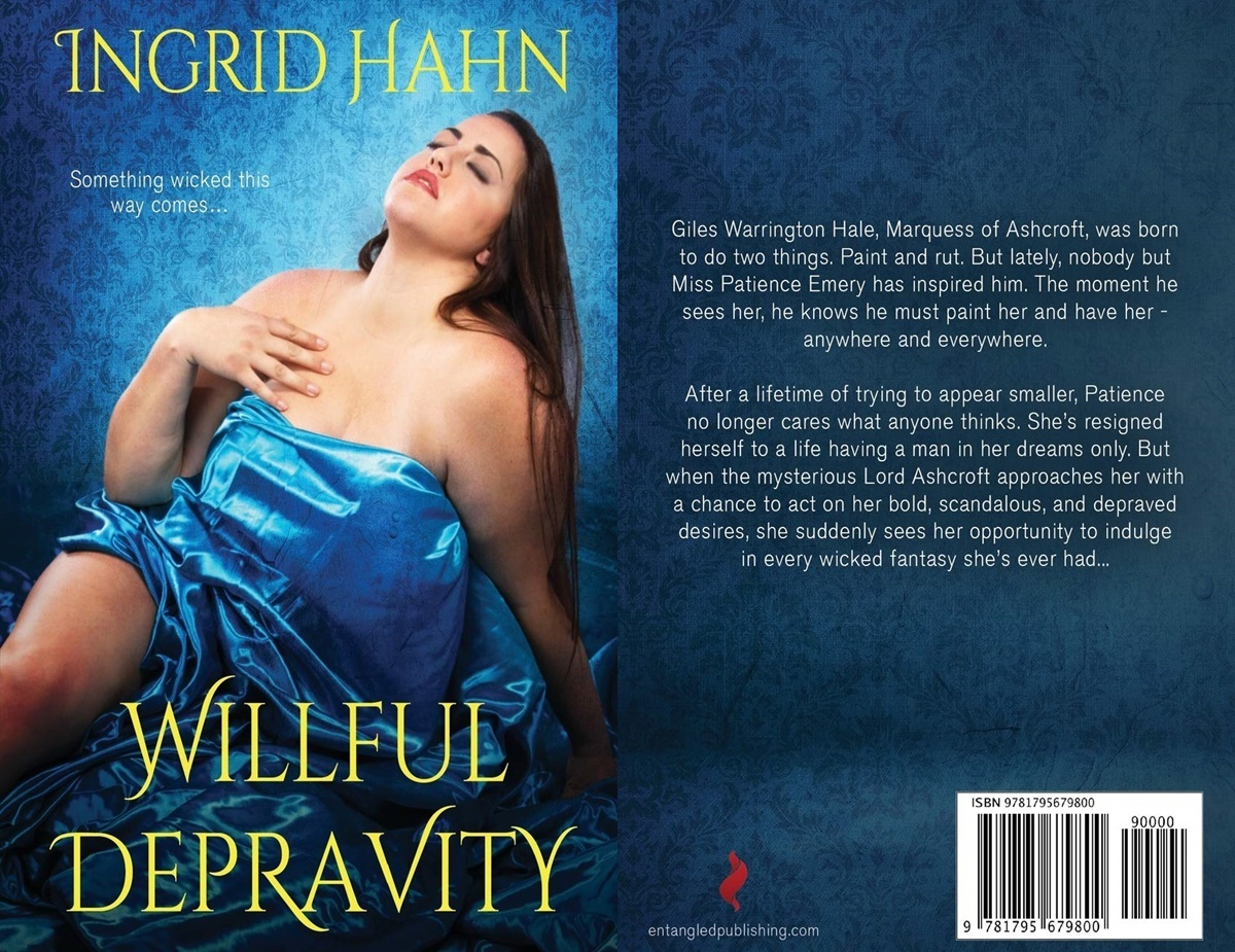 First Romance Novels, cover of willful depravity by ingrid hahn, books