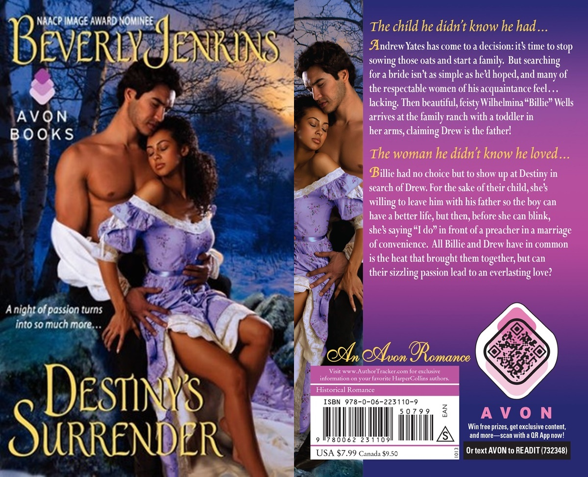 First Romance Novels, cover of destiny's surrender by beverly jenkins, books