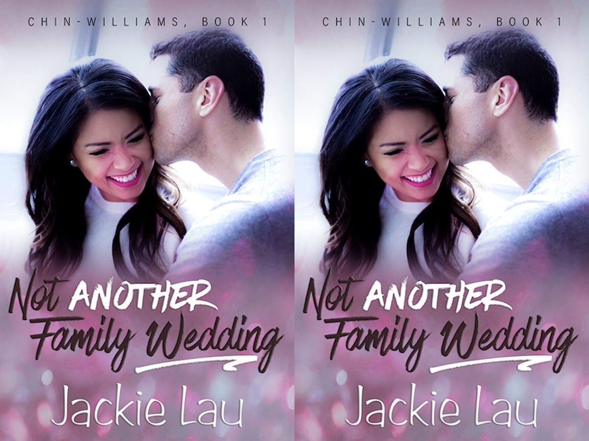 First Romance Novels, cover of not another family wedding by jackie lau, books