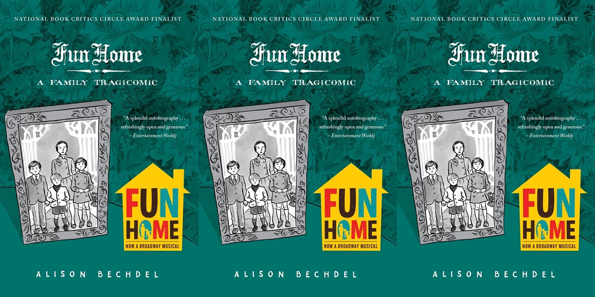 books about dysfunctional families, cover of fun home by alison bechdel, books