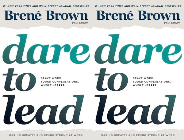 brene brown books, cover of dare to lead by brene brown, books