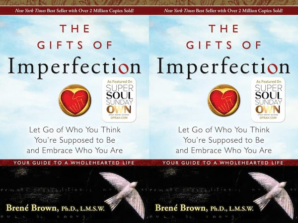 brene brown books, cover of the gifts of imperfection by brene brown, books