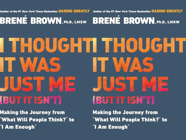 brene brown books, cover of i thought it was just me (but it isn't) by brene brown, books