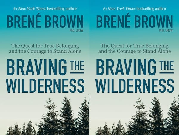 brene brown books, cover of braving the wilderness by brene brown, books