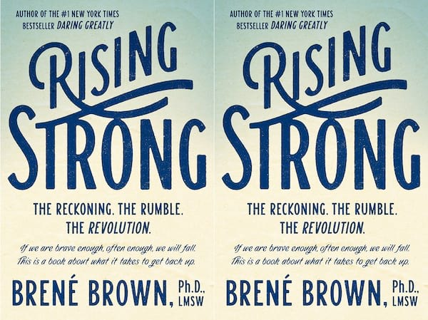 brene brown books, cover of rising strong by brene brown, books