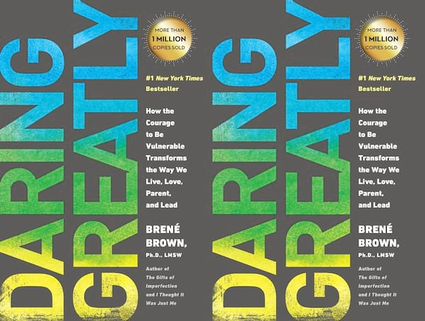 brene brown books, cover of daring greatly by brene brown, books