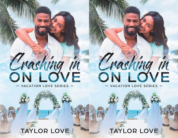 romance novels to read on vacation, cover of crashing in on love by taylor love, books