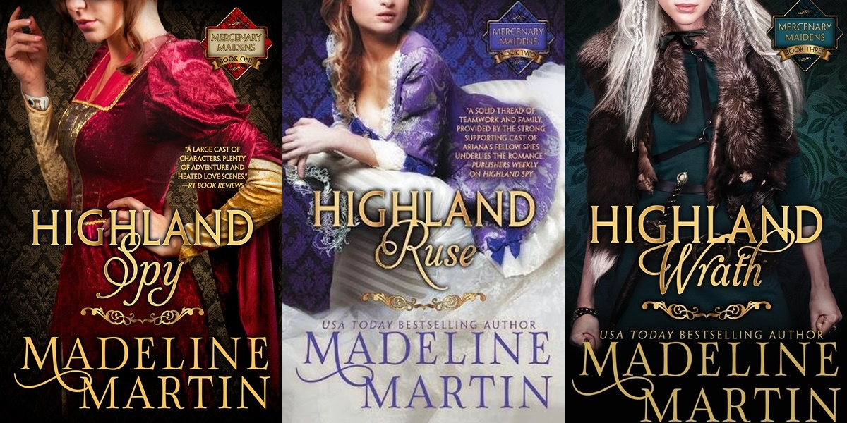 alpha heroines in romance, covers of mercenary maidens series by madeline martin, books