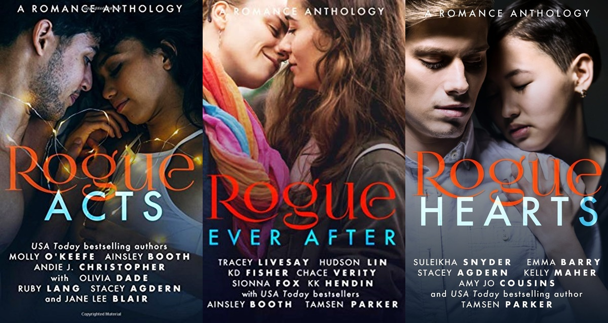 romance anthologies, covers of the rogue series, books