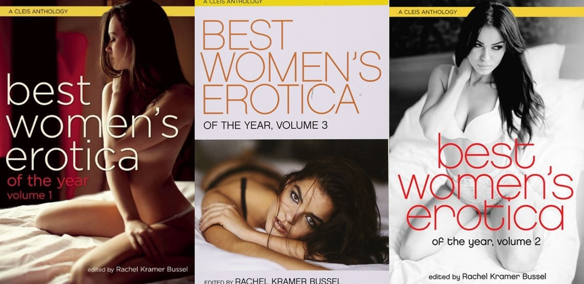 romance anthologies, covers from the best women's erotica of the year series, books