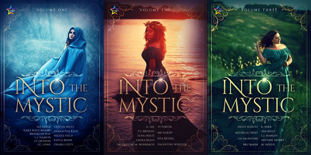 romance anthologies, covers of the into the mystic series, books