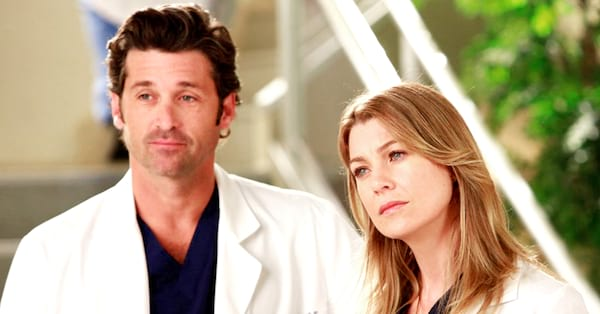 merder, meredith and derek, greys, angelina