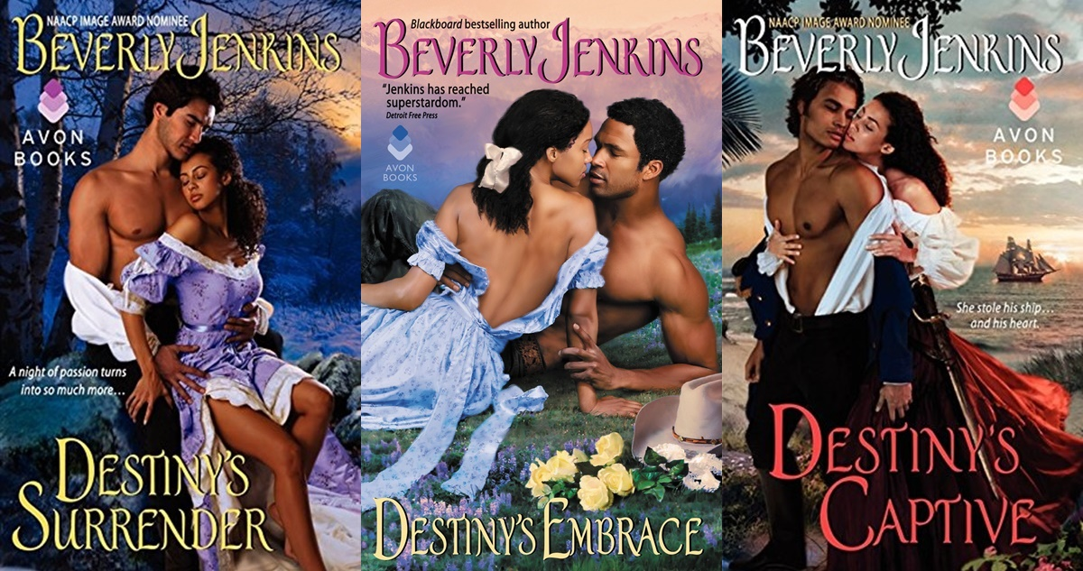 gorgeous romance novel covers, the destiny series by beverly jenkins, books