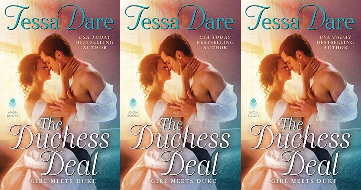 gorgeous romance novel covers, the duchess deal by tessa dare, books