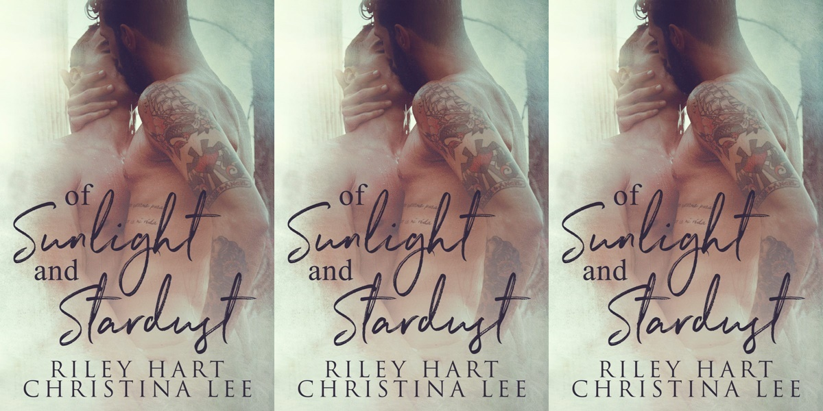 gorgeous romance novel covers, of sunlight and stardust by christina lee and riley hart, books