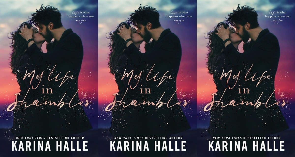 gorgeous romance novel covers, my life in shambles by karina halle, books