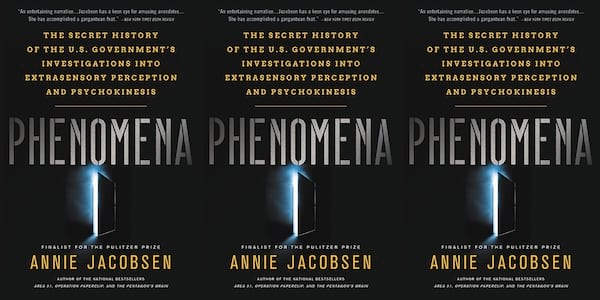 annie jacobsen books, phenomena: the secret history of the u.s. government's investigations into extrasensory perception and psychokinesis, books