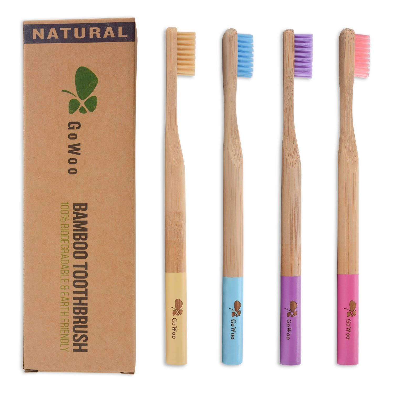 GoWoo bamboo toothbrush from Amazon