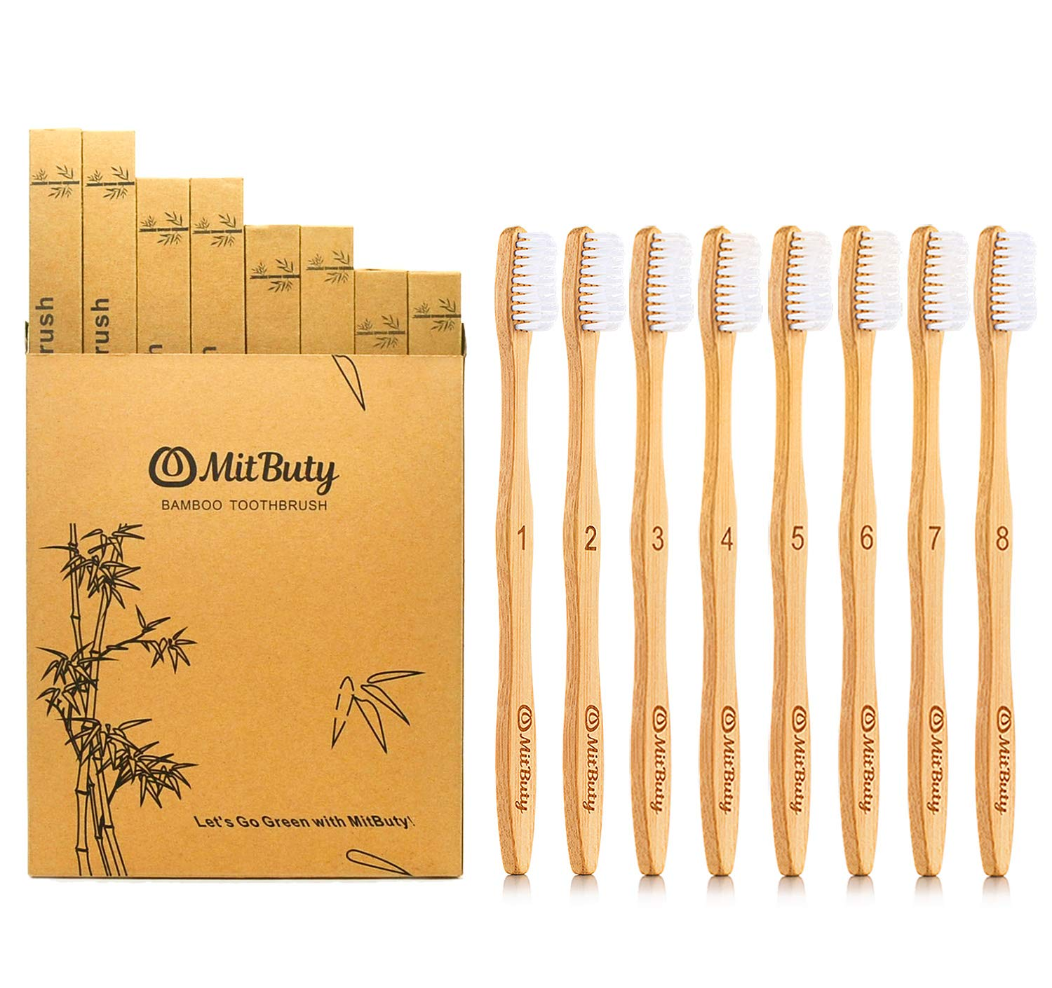 MitButy bamboo toothbrush from Amazon
