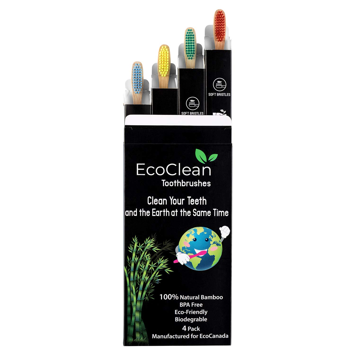 EcoClean bamboo toothbrush from Amazon