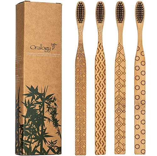Oralogy bamboo toothbrush from Amazon