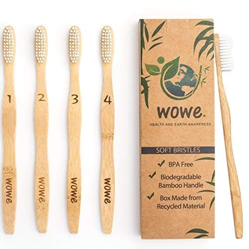 Wowe bamboo toothbrush from Amazon