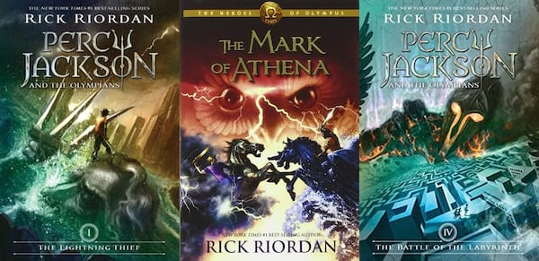 books, the percy jackson and the olympians and the heroes of olympus series by rick riordan, books for people who like harry potter