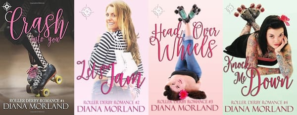 roller derby romance novels, roller derby romance series by diana morland, books