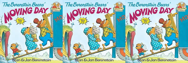 books, the berenstain bears' moving day by stan and jan berenstain, books about moving
