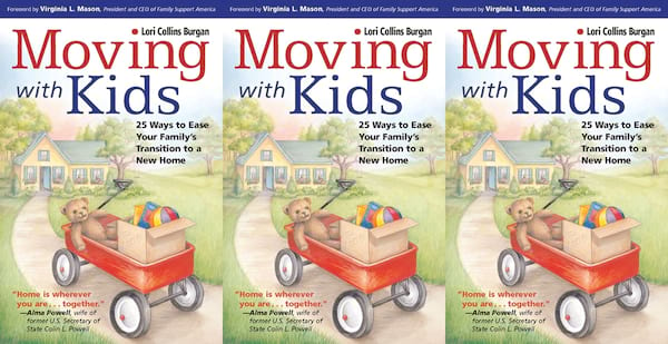books about moving, moving with kids by lori burgan, books