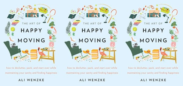 books about moving, the art of happy moving by ali wenzke, books