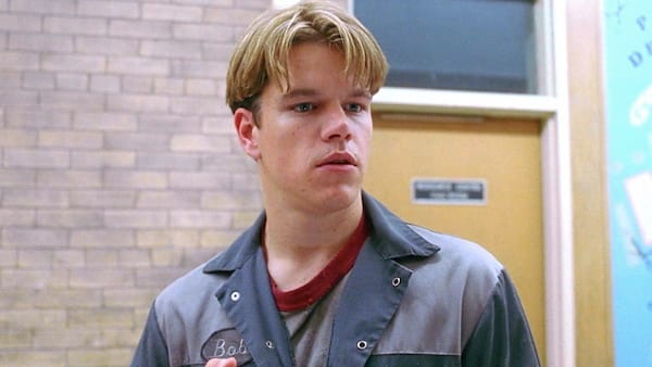 Good Will Hunting, Matt Damon, hero, male, smart, engineer, quiz, school