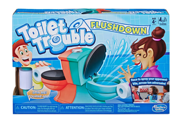 Toilet Trouble Flushdown game from Target