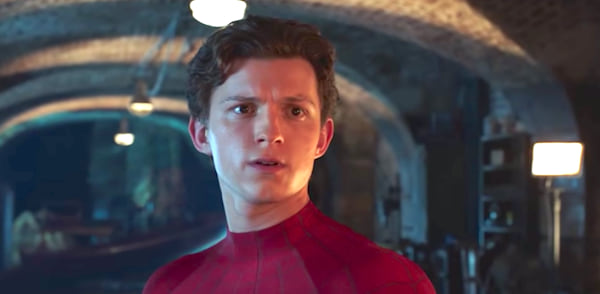 spider-man, spider-man far from home, marvel, Peter Parker played by Tom Holland looking confused
