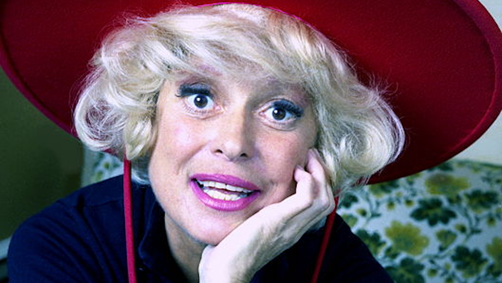 celebs, carol channing, comedian, comedy, colorized, 1973
