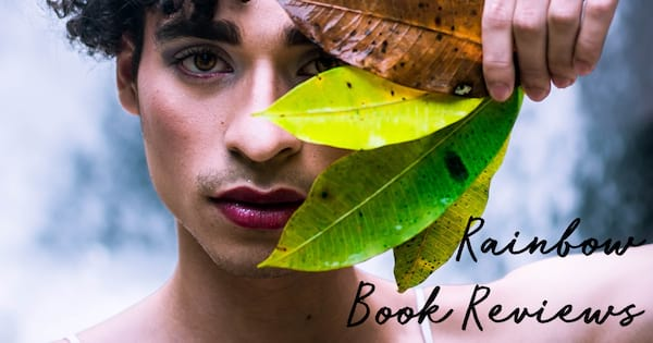 lgbt book blogs, rainbow book reviews, a nonbinary person wearing berry lipstick holding leaves over their eye, books