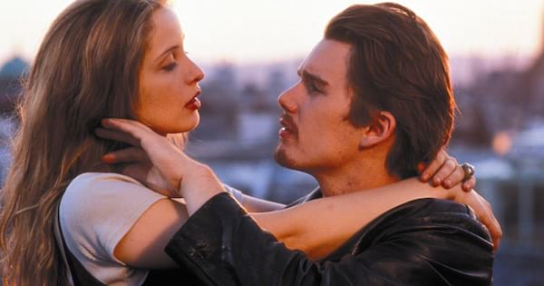 Ethan Hawke and Julie Delpy in Before Sunrise