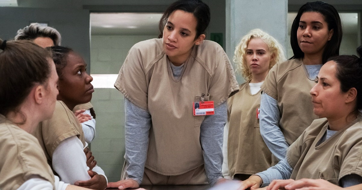 books adapted into tv shows, still from orange is the new black, tv, books