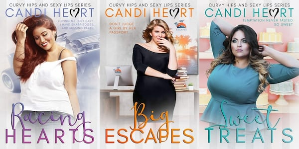Plus Size Romance Novels, curvy hips and sexy lips series by candi heart, books