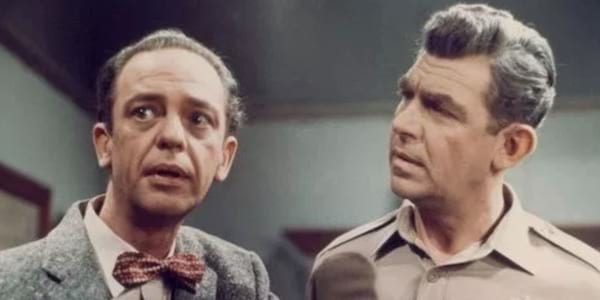 Andy Griffith and Don Knotts, pop culture duo, movies, tv