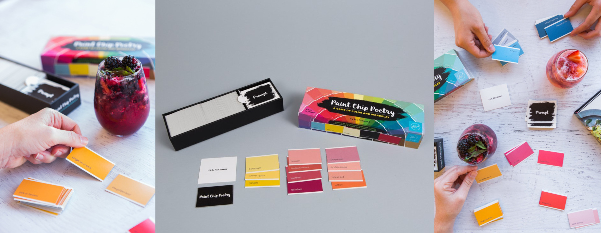 easy ways to write poetry, paint chip poetry: a game of color and wordplay, books