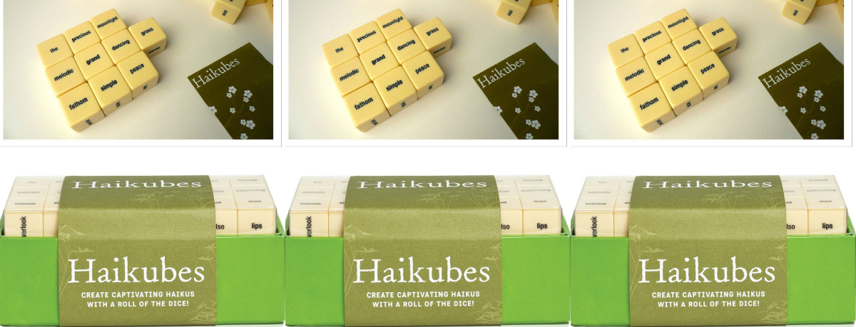 easy ways to write poetry, haikubes: create captivating haiku with a roll of the dice!, books
