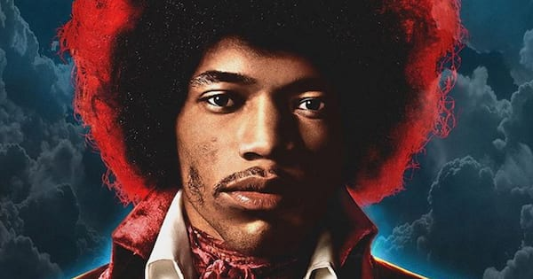 Jimi Hendrix on the 'Both Sides of the Sky' album cover