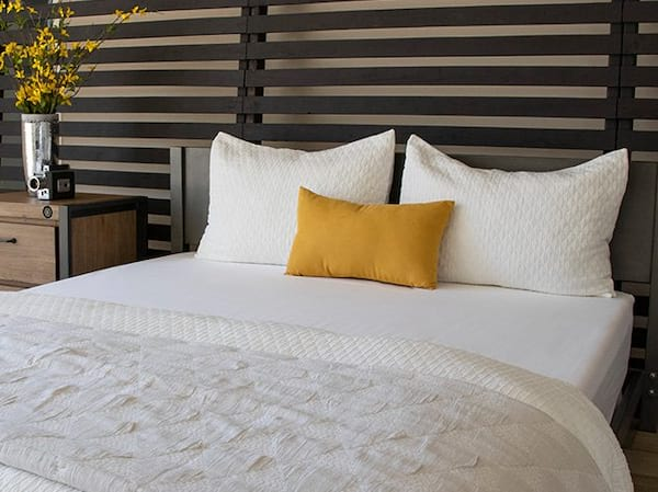 Brooklyn Bedding Brushed Microfiber Sheets on a bed