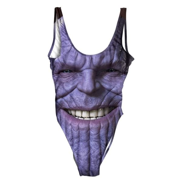 Thanos on a one-piece swimsuit from Beloved