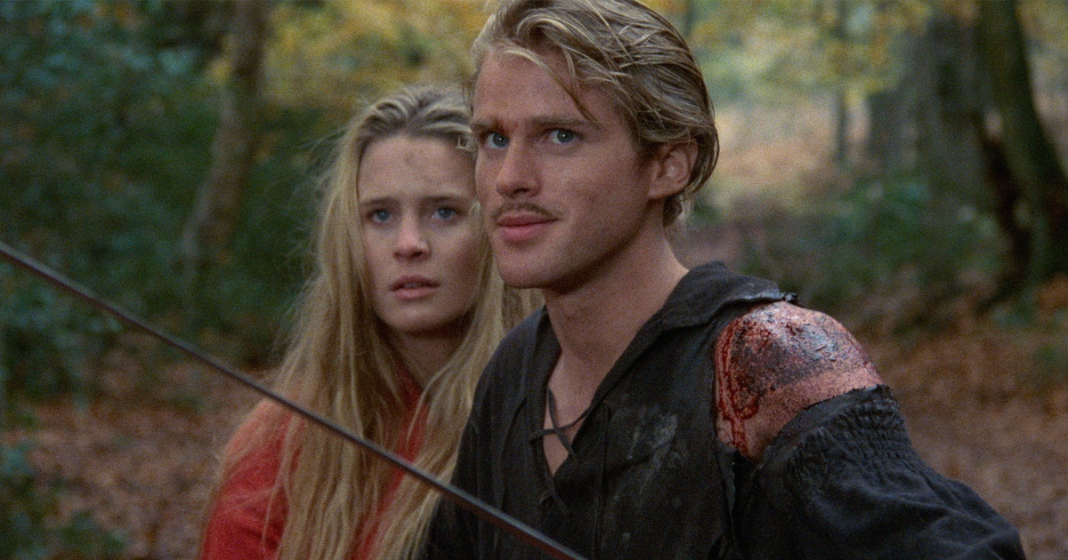 Westley defending Princess Buttercup in the woods in 'The Princess Bride'